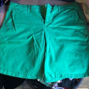 Green Khaki Shorts